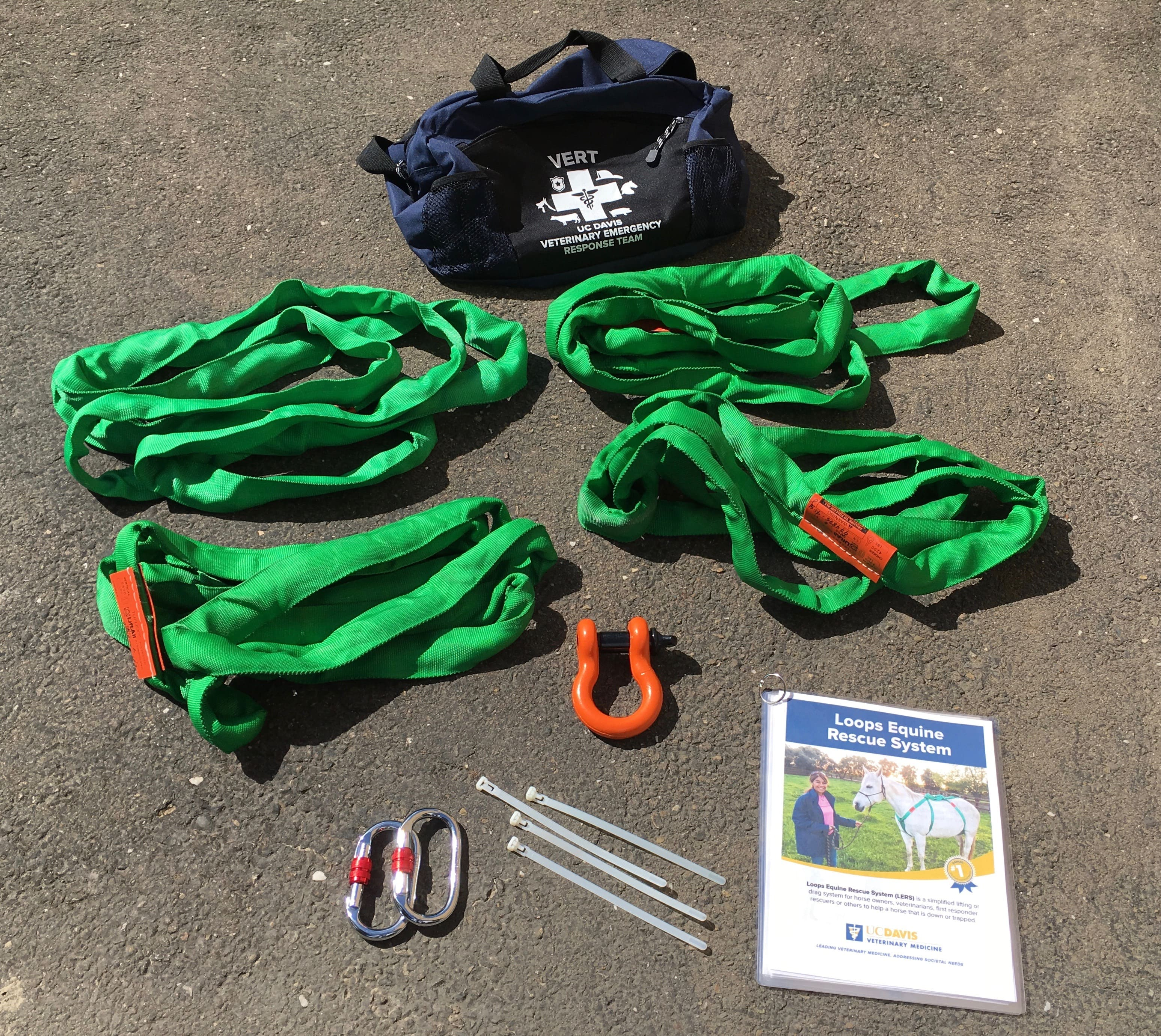 Contents of Loops Equine Rescue System